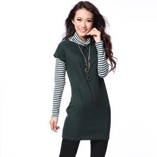 O.SA - Striped Inset Sweater Dress