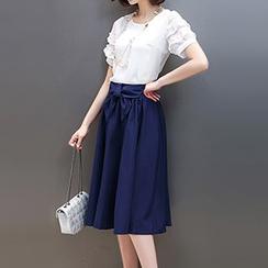 Romantica - Tie-Waist Midi Skirt