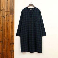 tete - Plaid Button Coat