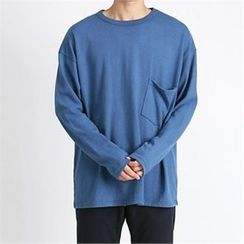 THE COVER - Round-Neck Pocket-Front T-Shirt