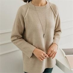 JOAMOM - Raglan-Sleeve Knit Top