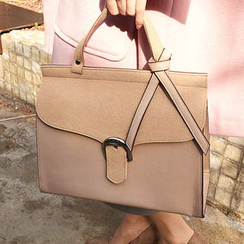 chuu - Buckled-Flap Briefcase