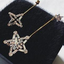 True Glam - Star Non-Matching Drop Earrings