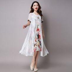 Splashmix - Mock Two-Piece Dress