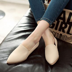 Pretty in Boots - Pointy Slip Ons