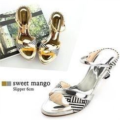 SWEET MANGO - Patterned Mules