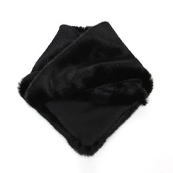 DABAGIRL - Faux-Fur Triangle Scarf