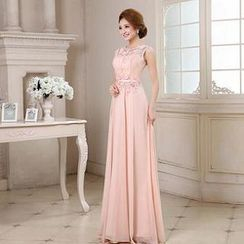 Luxury Style - Sleeveless Lace A-Line Evening Gown