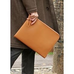 JOGUNSHOP - Synthetic Leather Wristlet Clutch