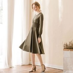 Tokyo Fashion - Smocked-Waist A-Line Dress
