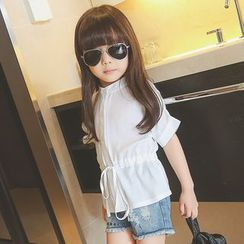 Lemony dudu - Kids Short-Sleeve Tie Waist Top
