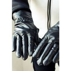 Ohkkage - Faux-Leather Gloves