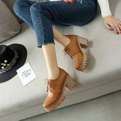 Pastel Pairs - Block Heel Lace Ups