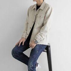 Seoul Homme - Drawstring-Waist Washed Jacket