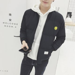 AOBIN - Smiley Padded Bomber Jacket