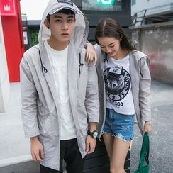 Evolu Fashion - Couple Matching Hooded Light Jacket