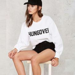 Chika - Long-Sleeve Lettering Top