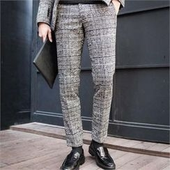 STYLEMAN - Wool-Blend Check Pants
