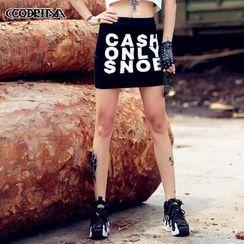 Cooreena - Lettering Miniskirt