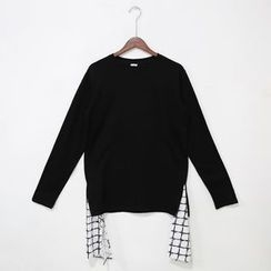 Mr. Cai - Check-Hem Top