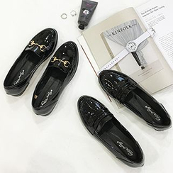 SouthBay Shoes - Chain Patent Loafers