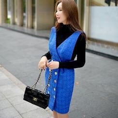 Dabuwawa - Buttoned Jumper Skirt