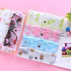 School Time - 印花透明眼镜盒