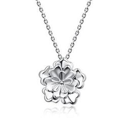 Bling Bling - Bling Bling Platinum Plated 925 Sterling Silver Layered Rose Necklace