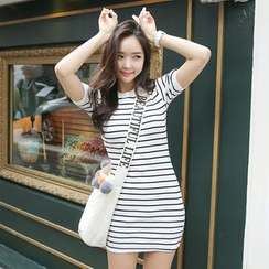 Envy Look - Stripe T-Shirt Minidress
