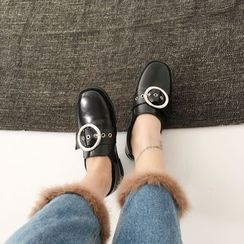 Charming Kicks - Buckled Loafers