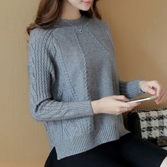 Ageha - Ribbed Knit Top
