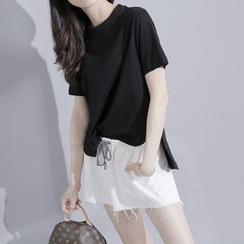 Sonne - Dip-Back Slit-Side T-Shirt