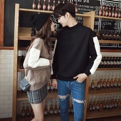 Je T'aime - Couple Matching Fleece Panel Pullover