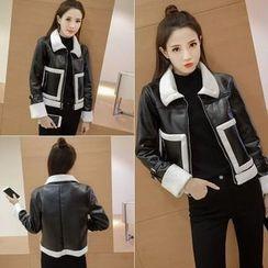 Velero - Fleece Lined Faux Leather Jacket