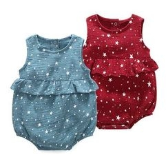 MOM Kiss - Baby Star Print Sleeveless Bodysuit