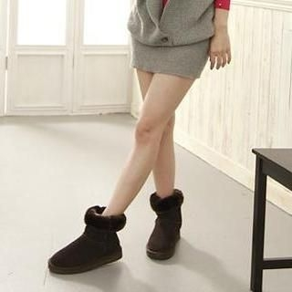 Lane172 - Fleece-Lined Short Snow Boots