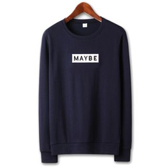 Seoul Homme - Letter Embroidered Sweatshirt