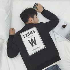 ZZP HOMME - 字母後貼布夾棉外套