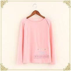 Fairyland - Embroidered Long-Sleeve T-Shirt