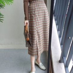 Clair Fashion - Checked Skirt
