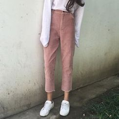 OCTALE - Cropped Corduroy Pants