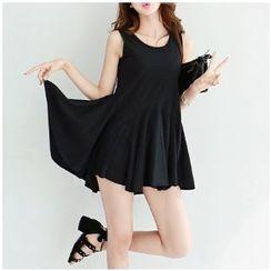 MayFair - Pleated Sleeveless Dress