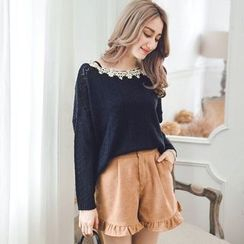 Tokyo Fashion - Paneled Knit Top