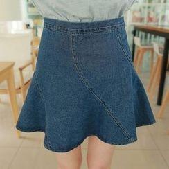 Isadora - A-Line Denim Skirt