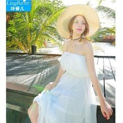Ringrui - Off-shoulder Sundress
