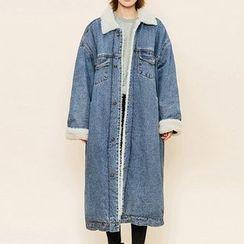 Heynew - Fleece Lined Denim Jacket