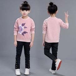 SEE SAW - Kids Long-Sleeve Embroidered Top