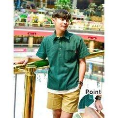STYLEMAN - Short-Sleeve Stripe Polo Shirt