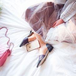 chuu - Layered Tulle Midi Skirt