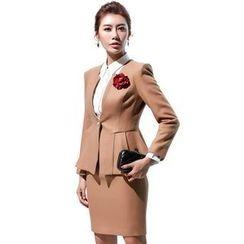 艾尚臣 - 羊毛混紡西裝 / 襯衫 / 短裙